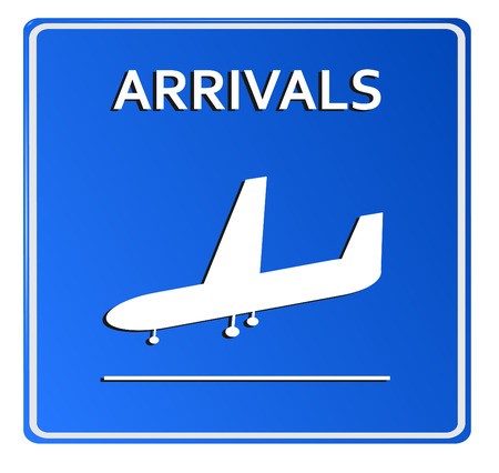 Blue Airport Icon - Arrivals