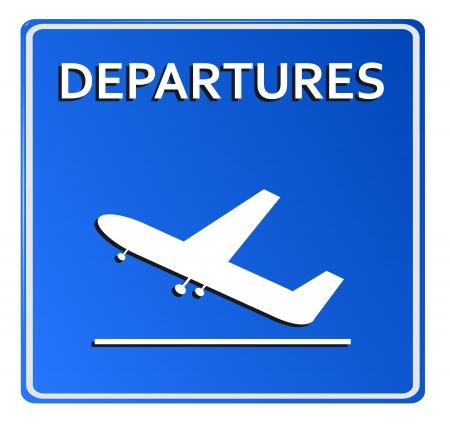 arrivals: Blue Airport Icon, Departures Vector illustration