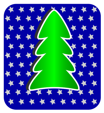 Modern Christmas Tree on blue background Vector