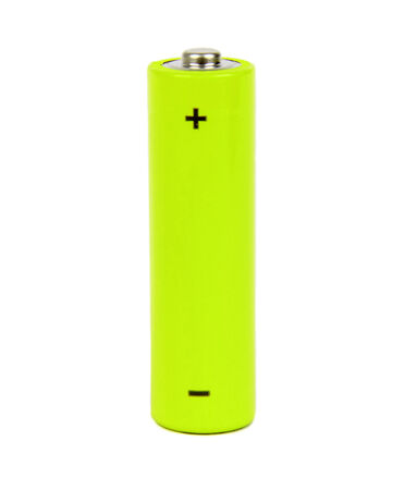 petrol powered: yellow small battery with positive and negative signs