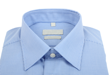 dry cleaned: new blue checkered shirt