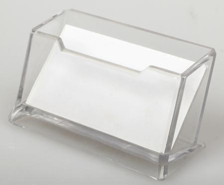 White blank  business card in holder