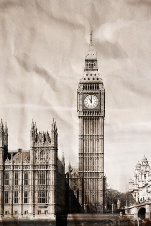 london big ben: Урожай вид Лондона, Биг Бен