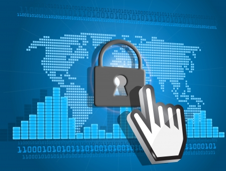 blocked: Secure or blocked Internet access concept