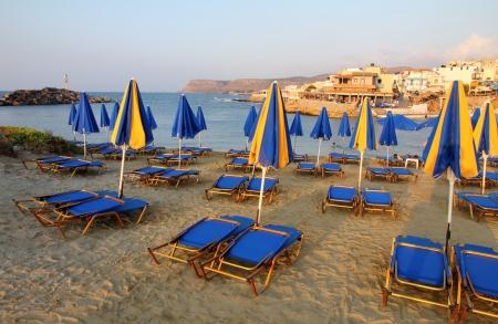 aegean sea: Crete, small town Sissi, photo taken at sunset