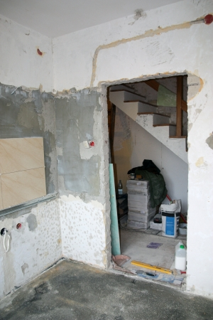 Home renovation (kitchen) Stockfoto
