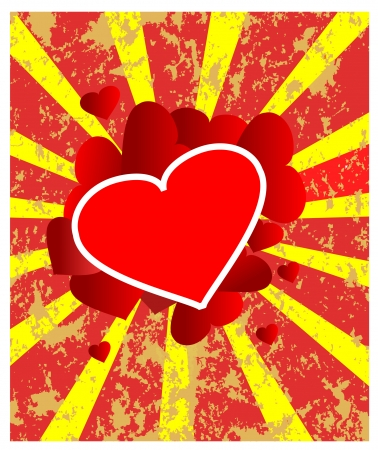 Retro heart to the Valentine Vector
