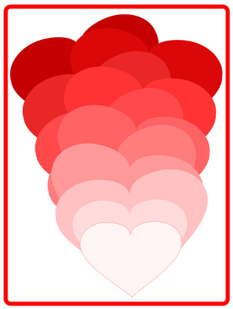 Red love hearts Vector