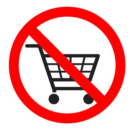 no shopping carts icon  Vector