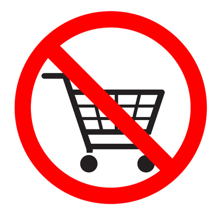 no lines: no shopping carts icon  Illustration