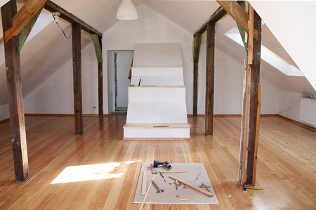 reworking (renovation) of the old attic with a new photo