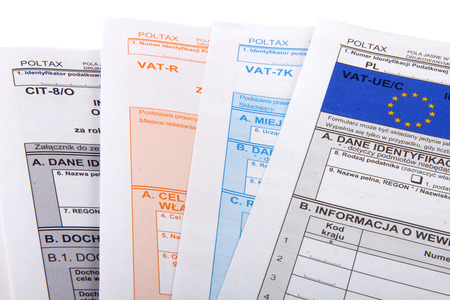 vat: Blank income tax forms. Polish forms PIT .
