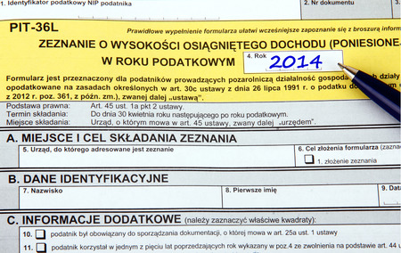 Polish tax forms, PIT-36L photo