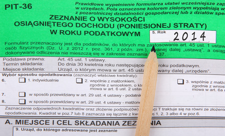 Polish tax forms, PIT-36  photo
