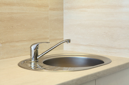 stainless steel kitchen: Stainless steel kitchen faucet and sink