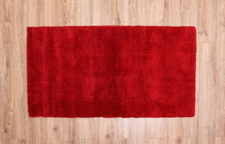 carpet texture: Red carpet on a parquet in a living room
