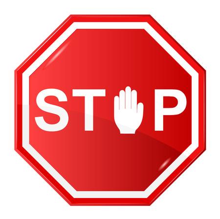 illustratie van Stop teken