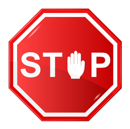 danger ahead: illustration of Stop sign