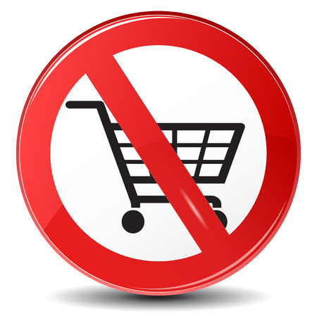 Shopping restriction, not allowed Vector