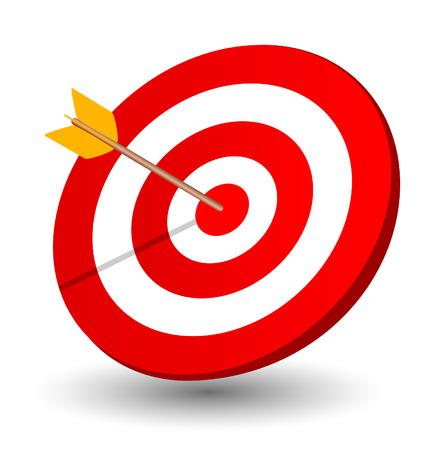 Flecha a la derecha en el objetivo Foto de archivo - 28461336