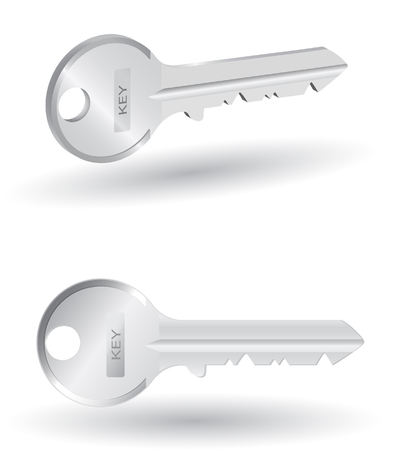 key chain: two realistic vector metal Illustration