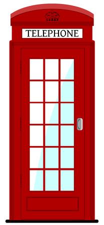cabina telefonica: Caja del teléfono de Londres, ilustración vectorial, eps10