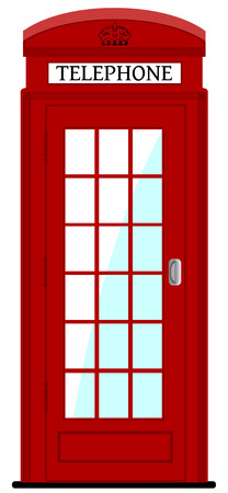 old english: London phone box , vector illustration, eps10