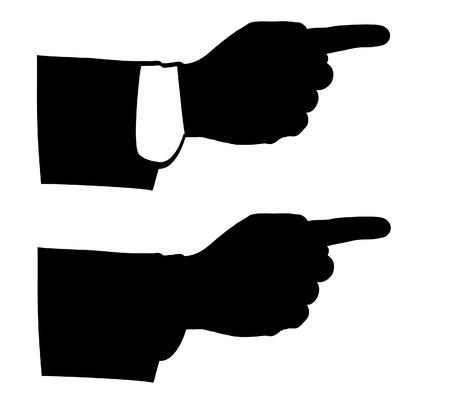 black man hands.icons for business and finance, vector eps10. Vector