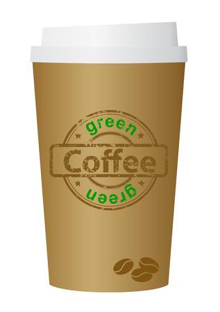 Eco, green, coffee cup, vector Vector