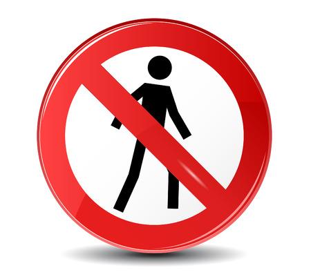 no entry sign: No entry vector sign.