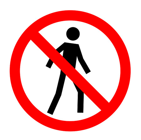Not allowed, No entry sign, vector, eps10. Vector