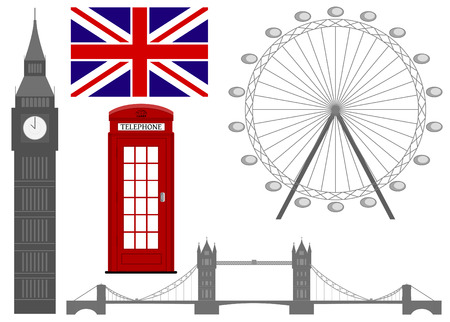 stereotypes: Vector illustration of the  London symbol , vector icons. eps10.