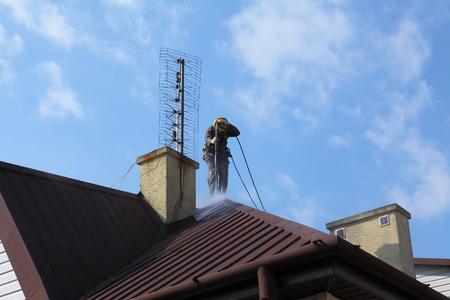 Lavado de techo profesional.