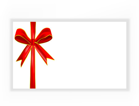 red bow ribbon isolated on white background,  Vector