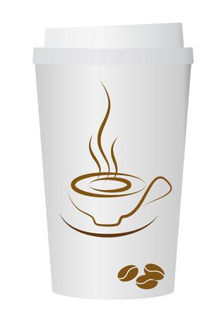 A coffee cup vector illustration,  Vector