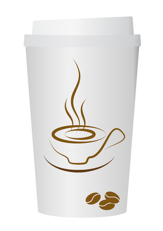 take away: A coffee cup vector illustration,  Illustration