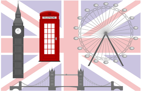 Flag of England from symbols of the United Kingdom and London Vector
