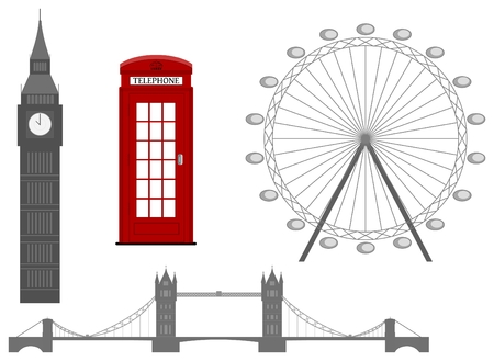 london skyline: London symbol, silhouette icon, vector illustration