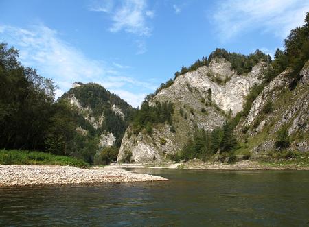 The Dunajec River Gorge. Mountain landscape.