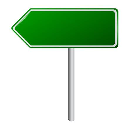 green road sign: Blank Green Road Sign Illustration