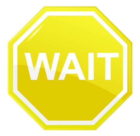 Wait stop sign Illustration