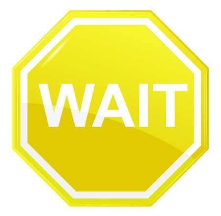 Wait stop sign Illustration