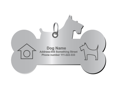 dog collar: identity tags for dog Illustration