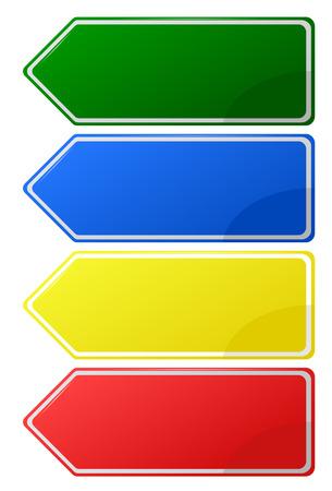 flechas direccion: Muestra de la plantilla para un texto