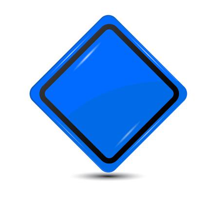 흰색 배경에 고립 된 빈 파란색 기호 일러스트