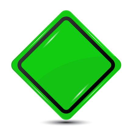 Green Road Sign , vectorGreen Road Sign , vector Illustration