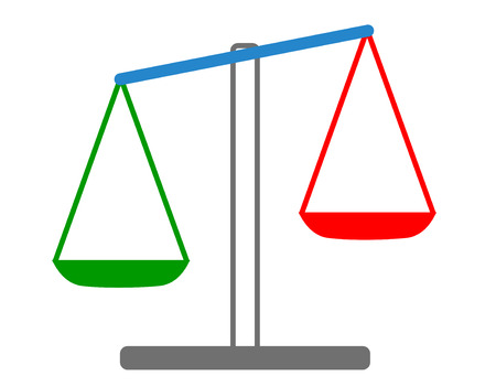 acquittal: Vector illustration of weights
