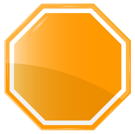 sign orange: Isolated Blank Orange Sign, Vector