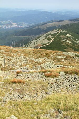 Mountain Range landscape - Sniezka  ?nie?kaKarkonoszePoland Stock Photo