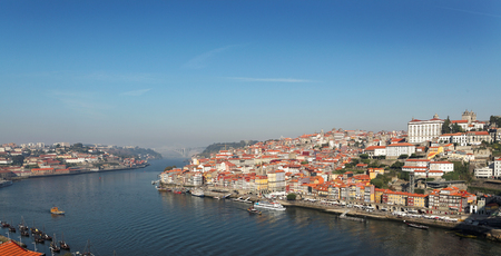no name: Portugal, Porto, view of the city and Douros river early in foggy morning. picture with no name (ads)